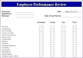 Company Performance Review Template Evaluation Report