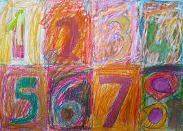 b artlings b art club jasper johns oil pastel