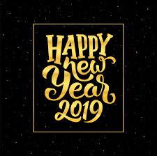 Happy new year 2019 vector greeting card design Vector | Premium ...