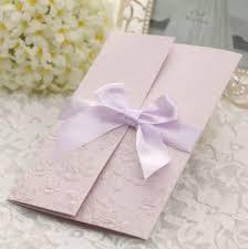 Elegant Invitation Cards Elegant Engraved Wedding Invitation Card With Nice Ribbon Decoration