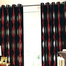 Black And Red Curtains For Bedroom Red Curtains For Bedroom Large ...