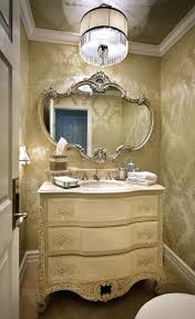 Beautiful Powder Room Vanity For Home Interior Design Ideas: Elegant Powder  Room Vanity With White