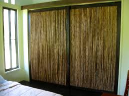 Image of: Rustic Bamboo Closet Doors Inspirations