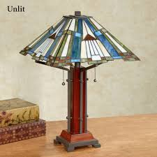 el camino stained glass table lamp multi earth each with cfl bulbs