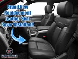 2010 2016 ford f 150 raptor svt perforated leather seat cover driver bottom black