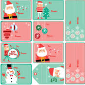 Gift Tag Designs  Spoonflower Design ChallengeChristmas Gift Tag Design