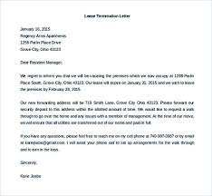 Terminate A Lease Letter 9 Lease Termination Letter Template