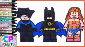 Lego Nightwing Batman Wonder Woman Coloring Pages For Kids How To