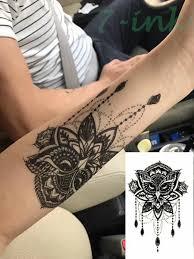 Vodotěsný Dočasné Tetování Dreamcatcher Sova Mandala Mořská Panna