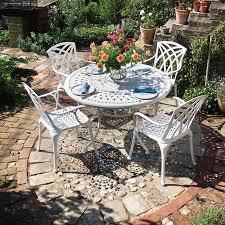 120 cm cast aluminium round patio table