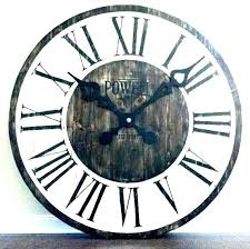 rustic wall clocks large oversized metal clock white