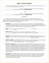 Template Car Lease Contract Template Rent Own Agreement