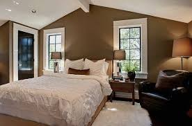 photos of brown walls and white trim | master bedroom design with white  ceiling and brown