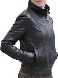 las black leather double zip jacket