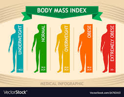Man Body Mass Index Info Chart Male Silhouette