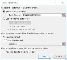 Sample Data For Pivot Table Pivot Tables In Excel Easy Excel Tutorial