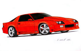 1992 Chevrolet Camaro Z28 IROC-Z Drawing by Vertualissimo on ...