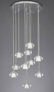modern 10 light multi drop ceiling