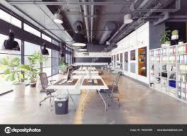 loft office. Modern Cozy Loft Office \u2014 Stock Photo