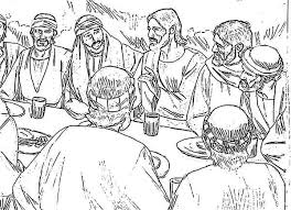 Small Picture Jesus And Apostles In The Last Supper Coloring Page Jesus And
