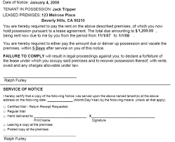 Notice To Pay Rent Or Quit Ez Landlord Forms