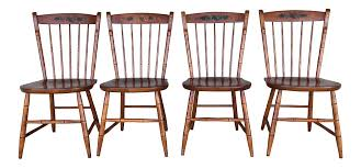 L. Hitchcock Harvest Paint Decorated Birdcage Style Chairs- Set of 4 |  Chairish