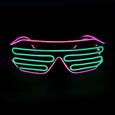 Neon Light Glasses 30 Packs El Wire Glow Glasses Light Up Flashing Neon Glasses Led Sunglasses Glow With 4modes For Halloween Party Mask Decoration Buy Light Up
