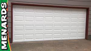 garage door how to install menards