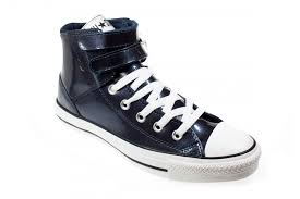 official converse all star chuck taylor 2 strap shine uni navy blue patent leather high top
