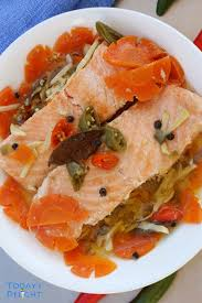 terranean style salmon in olive oil