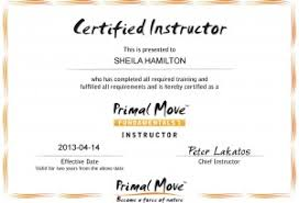 sheila becomes a certified instructor for primal move fundamentals  primal moves diploma php