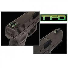 truglo tritium fiber brite site hand sight ruger lc front green rear yellow