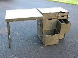 Vintage Industrial Green Collapsible Desk
