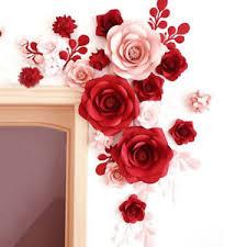 Red Paper Flower Details About 1pcs 30cm 40cm Paper Flower Backdrop Wall 2 Shape Flower Diy Wedding Party Decor