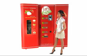 Tombstone Pizza Vending Machine Mesmerizing FINALLY Fresh Pizza Vending Machines Coming To US Geekologie