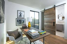 office french doors. Home Office Doors View In Gallery Sliding Barn Door Separates The From Small . French