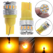 Bright Yellow Led Lights Details About 2x Super Bright Yellow T10 18 Smd 3014 Led 194 168 2825 W5w Car Lights Bulb Best
