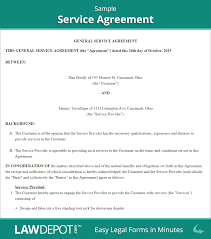 Contract Service Agreement Service Agreement Form Free Service Contract Template US LawDepot 1