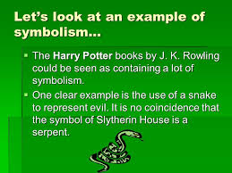 symbolism class notes by mrs galati a symbol is  something  let s look at an example of symbolism  the harry potter books by j