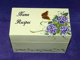 Decorative Recipe Box Decorative Recipe Box Wood Recipe Box Custom Recipes Organizer 34