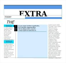 Extra Extra Newspaper Template The Changing Times Newspaper Template Financial Bernardy Co