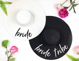 bride tribe beach wedding floppy mrs sequin sun hats just married drunk in love honeymoon bridal party gifts favors hats kids hats from wutiamou