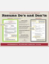 Resume Dos And Donts. Resume Dos And Don Ts Making Recruiters Take ...