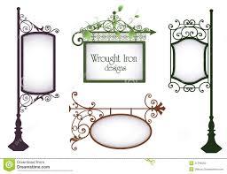 Wrought Iron Designs Wrought Iron Designs Stock Vector Illustration Of Border