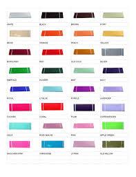 Tulle Color Chart Obabybiz