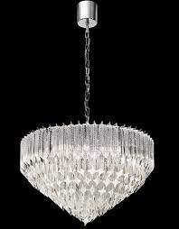 art deco style 6 light italian crystal