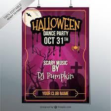 Halloween Dance Flyer Templates Download Vector Halloween Dance Party Poster Vectorpicker