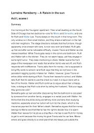 A Raisin In The Sun Character Chart Answer Key Lorraine Hansberry A Raisin In The Sun Summary And