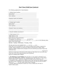 Daycare Contract Template Free 50 Daycare Child Care Babysitting Contract Templates
