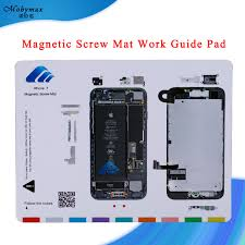 Magnetic Screw Mat Work Guide Pad For Iphone X 5 4 4s 8 8